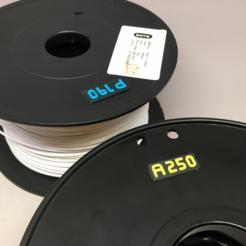 Free 3d printer model Filament Temperature Tag, CyberCyclist