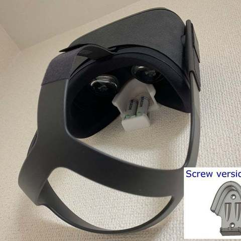 Download free STL file Oculus Quest Goggles and AA batteries Wall Mount with Stapler and Screws • 3D printable template, CyberCyclist