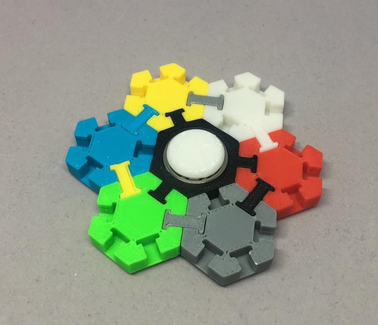 Capture d'écran 2017-05-30 à 19.20.34.png Download free STL file Hex Tile Fidget Spinner • 3D printing object, CyberCyclist