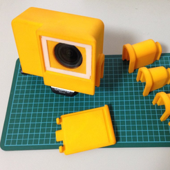 Free 3d printer files Rain Poncho for GoPro Hero3 mounting frame, CyberCyclist
