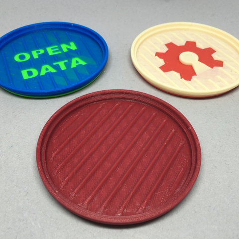 Free Stackable Drink Coaster STL file, CyberCyclist