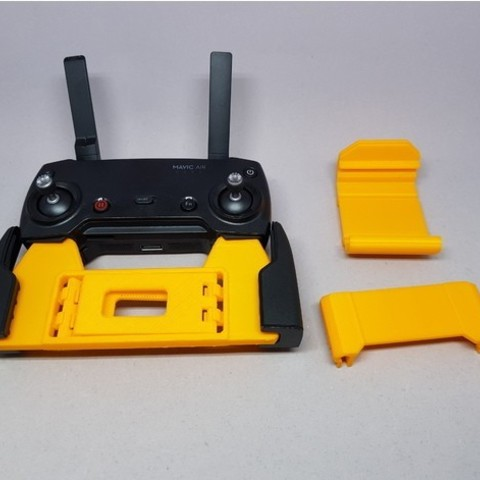 32d5a231817cedffa16f140da2f3a187_preview_featured.jpg Download free STL file MAVIC Air controler foldable mount for iPhone 6/iPad mini 4 • Template to 3D print, CyberCyclist