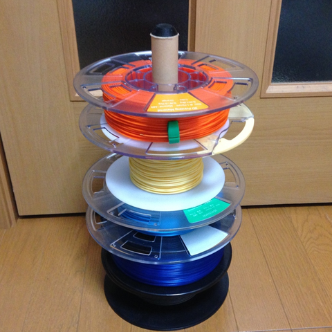 Free 3D printer file Filament Spool Stacker, CyberCyclist