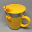 Free 3d print files THERMOS JDC-350/351 Lid Hanger, CyberCyclist