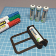 Download free 3D printer designs AA Battery Painting Jig, CyberCyclist