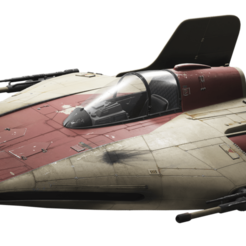 A-Wing.png Download STL file Star Wars A-Wing • 3D printing model, DamDam3D
