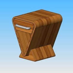 tab chevet1.JPG Download free STL file Nightstand • Model to 3D print, maxgg