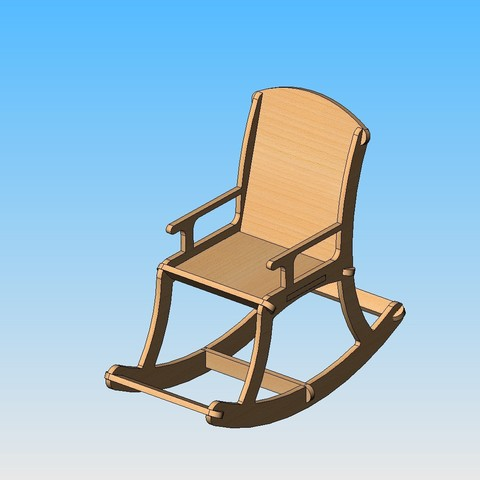 Free Rocking chair 3D printer file, maxgg