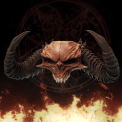 Télécharger fichier 3D Diablo Crâne - Diablo 2 et IV, MarianoReyEsculturas