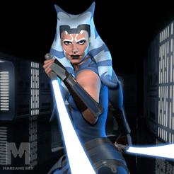foto instagram.png Télécharger fichier STL Ahsoka Tano - Modèle d'impression 3D de Clone Wars ashoka • Plan à imprimer en 3D, MarianoReyEsculturas