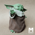 Download 3D printer model Baby Yoda Using the Force - With Cup - PACK - The Mandalorian, MarianoReyEsculturas