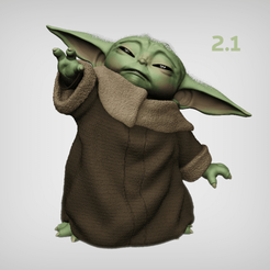 Download STL files BABY YODA USING THE FORCE, MarianoReyEsculturas
