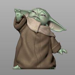 baby-yoda-using-the-force-the-mandalorian-3d-model-obj-stl.jpg Télécharger fichier STL Bébé Yoda utilisant la force - Le modèle d'impression 3D mandalorien • Modèle pour imprimante 3D, MarianoReyEsculturas