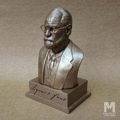 sigmund-freud-bust-portrait-3d-model-stl.jpg Télécharger fichier STL Sigmund Freud - Portrait de buste modèle d'impression 3D • Modèle imprimable en 3D, MarianoReyEsculturas