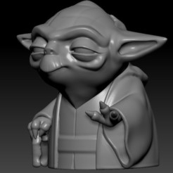 yoda zbrush.jpg Télécharger fichier OBJ Yoda Toon • Objet pour imprimante 3D, MarianoReyEsculturas