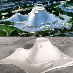 Free 3D printer model George Lucas Museum of Narrative Art, Chicago IL - Scale Model, futurefactory