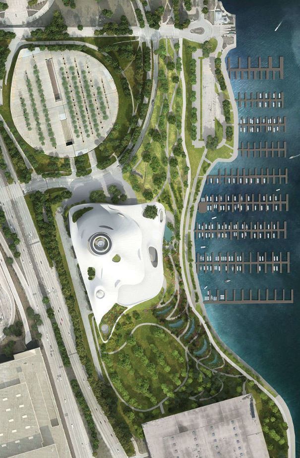 George_Lucas_Museum_-_Chicago_6.JPG Download free STL file George Lucas Museum of Narrative Art, Chicago IL - Scale Model • 3D printable object, futurefactory