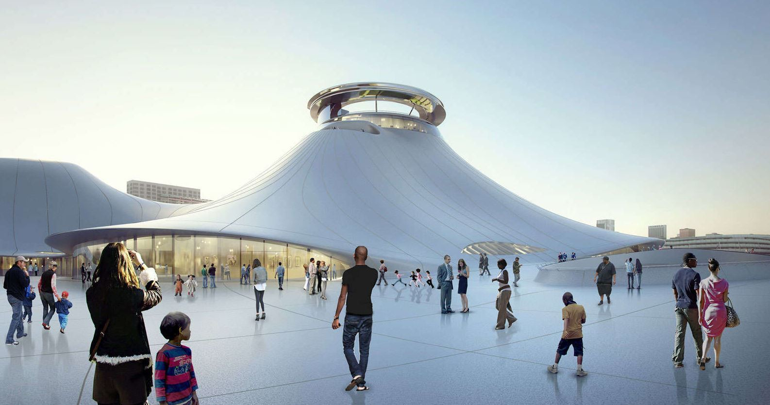 George_Lucas_Museum_-_Chicago_7.JPG Download free STL file George Lucas Museum of Narrative Art, Chicago IL - Scale Model • 3D printable object, futurefactory