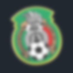 Mexico_-_National_Football_Team_Logo.stl Download free STL file Mexico_National Football Team - Logo • Template to 3D print, CSD_Salzburg