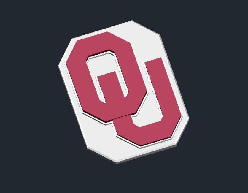 Capture d'écran 2017-01-12 à 16.26.24.png Télécharger fichier STL gratuit Oklahoma Sooners - Logo • Modèle à imprimer en 3D, CSD_Salzburg