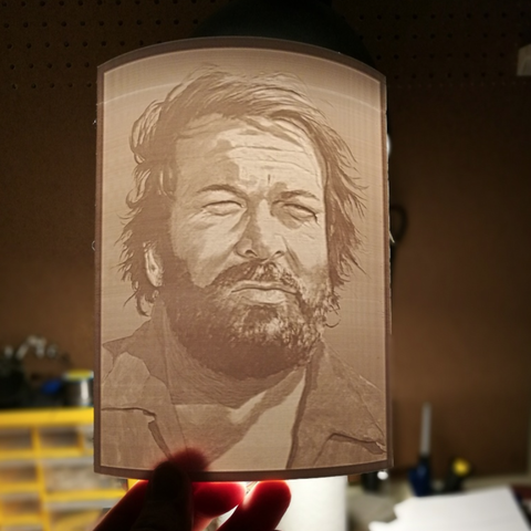 Free 3D printer files Lithophane - Bud Spencer, CSD_Salzburg