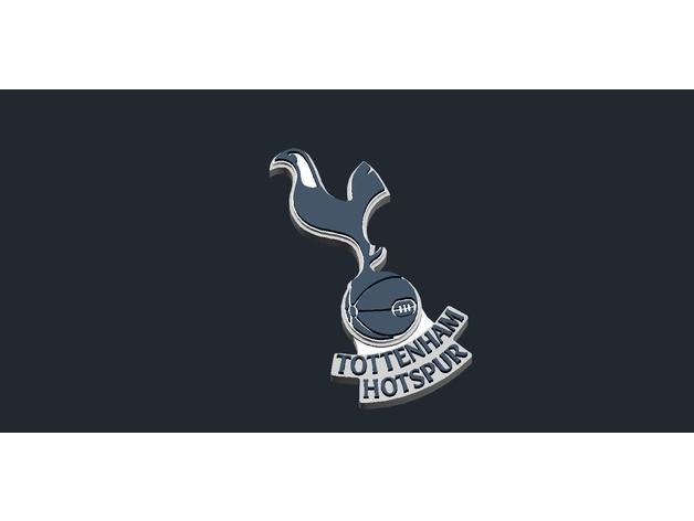 Download Free Stl File Tottenham Hotspur Logo 3d Printing Design Cults