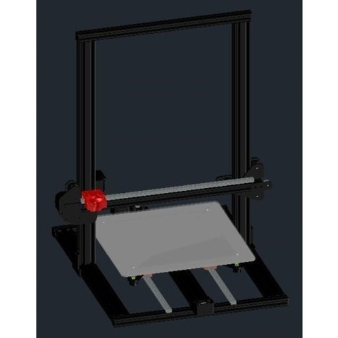 Download free 3D printer designs Creality CR-10 - Linear Mod MGN12H, CSD_Salzburg