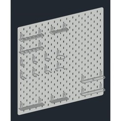 c2c5fe9fb076a940662f8397b8487e16_preview_featured.jpg Download free STL file IKEA SKADIS Universal Hook Set • 3D printer template, CSD_Salzburg