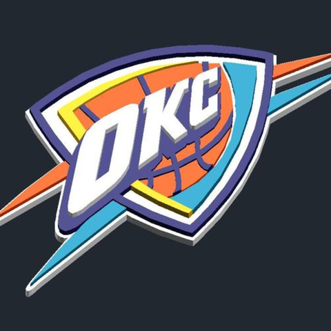 Download free STL file Oklahoma City Thunder - Logo • 3D print design, CSD_Salzburg