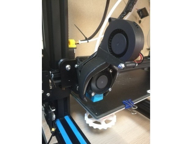 f5c791cfcf190baab8685b35a11e43c2_preview_featured.jpg Download free STL file CR-10 Heavy Duty - E3D-V6_Cover 40mm Fan - Fang-Version • Design to 3D print, CSD_Salzburg