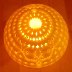 Download free 3D printing templates Dome pour lampe , phipo333