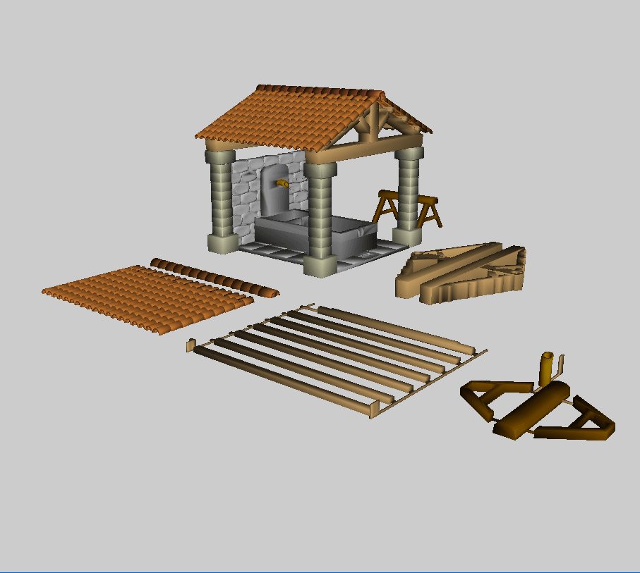 CAO.png Download free STL file Provencal wash-house • 3D printable object, phipo333