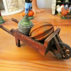 Free 3D print files Wooden wheelbarrow, phipo333