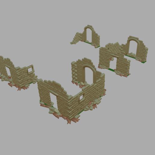 RuineBergerie.png Télécharger fichier STL gratuit Ruines de maison et batiments • Design imprimable en 3D, phipo333