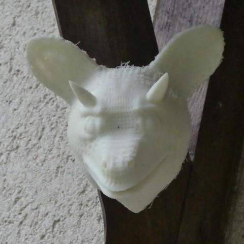P1120618.jpg Download free STL file Demon head • 3D printable template, phipo333
