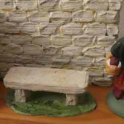 Descargar modelos 3D gratis bancos de piedra para Santon 7cm, phipo333