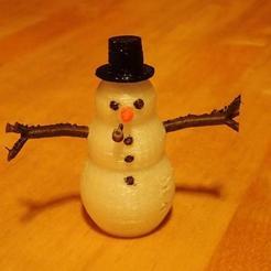 STL gratuit Bonhomme de neige, phipo333