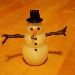 Free STL files Snowman, phipo333