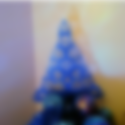ChristmasTreeFlatCircles.stl Download free STL file Christmast Tree • 3D print template, phipo333