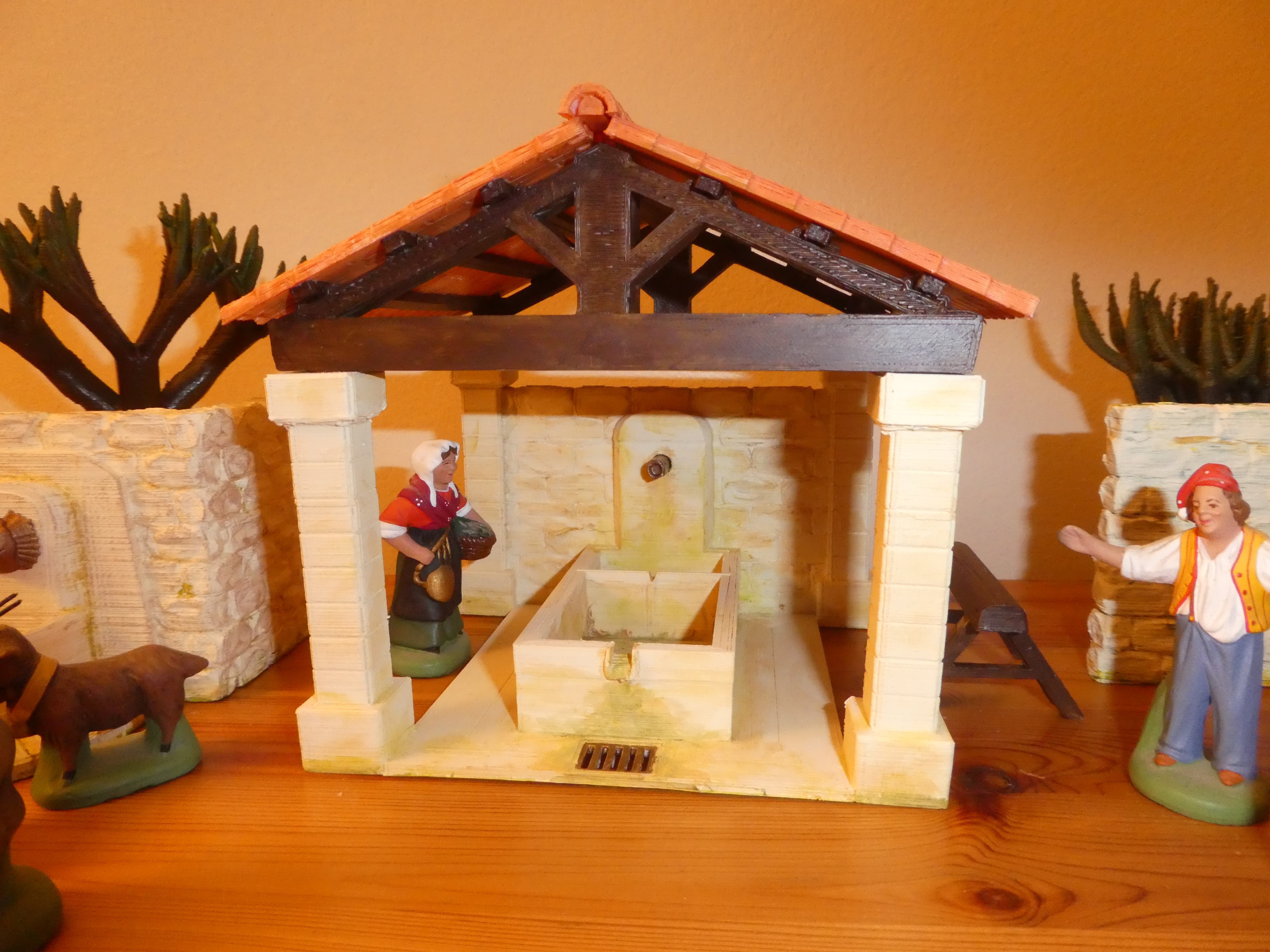 P1130434.JPG Download free STL file Provencal wash-house • 3D printable object, phipo333
