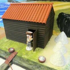 P1220154.JPG Download free STL file Cabin and salt marsh decor for Santon 7cm • 3D print design, phipo333
