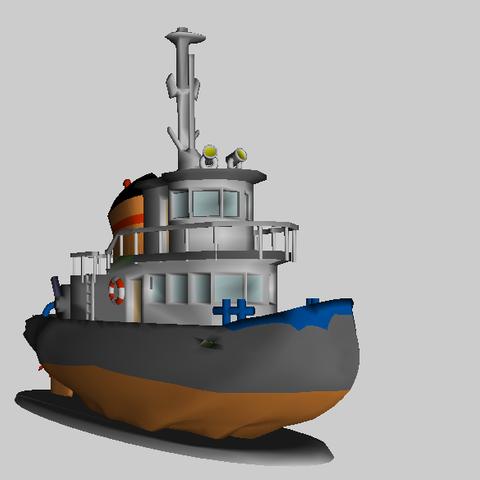 Remorqueur4.png Download free STL file Tugboat • 3D printer design, phipo333