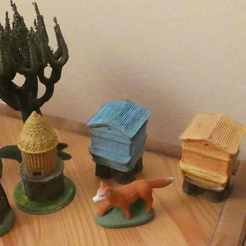 Download free 3D printer files Hives for Santon 7cm, phipo333
