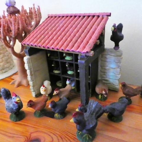 Free STL Chicken house, phipo333