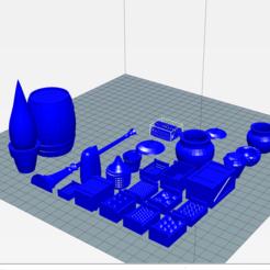 divers.png Download free STL file Boxes, crates, barrel, bucket, pail, pot, bag, bottle, reverb etc. • 3D printing model, phipo333