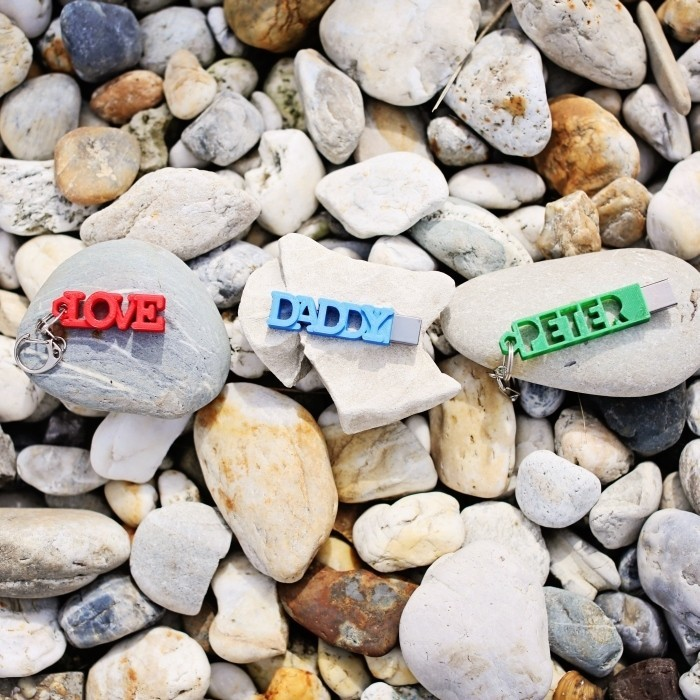 peter-daddy-love.jpg Download free STL file PETER USB Case with Keyring • Object to 3D print, Emese