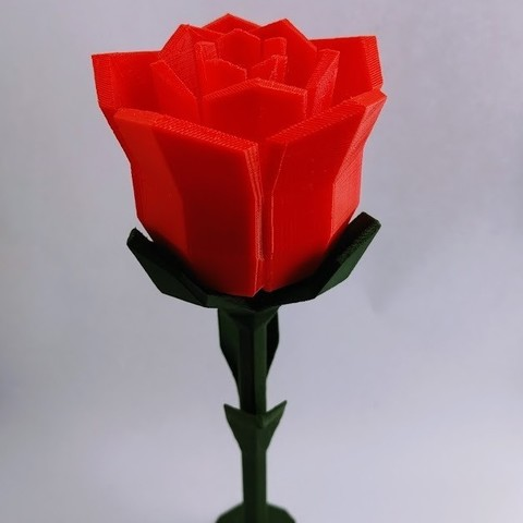 Free 3D printer designs Low poly Rose, kijai