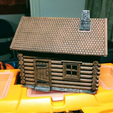 3D printer models Log cabin, kijai