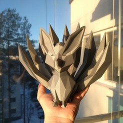 Download 3D printing models Low-poly Nine-tailed Fox, kijai