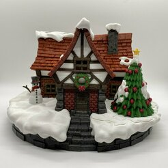 image3.jpg Download STL file Christmas Cottage • 3D print design, kijai
